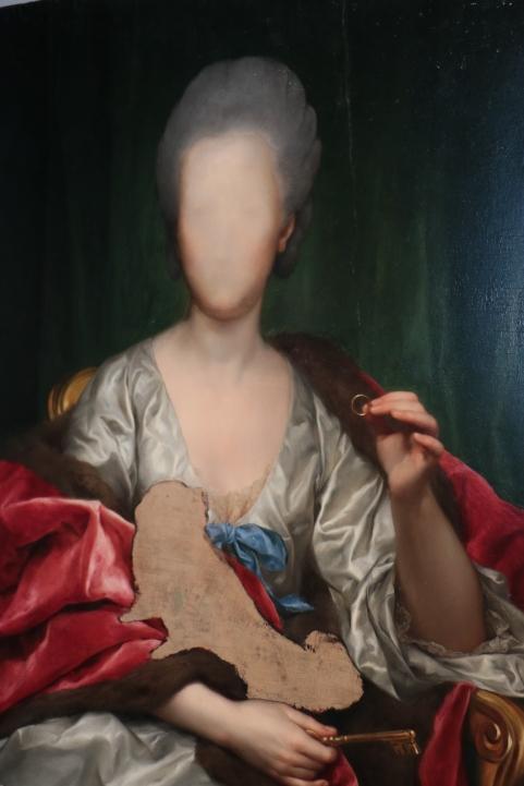 Portrait of Mariana de Silva Y Sarmiento, Duquesa de Huescar (1740 - 1784), 1775, por Anton Raphael Mengs