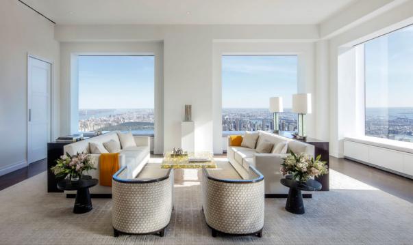 Uma das vistas mais completas e caras de Manhattan. Foto: Divulgação / 432 Park Avenue